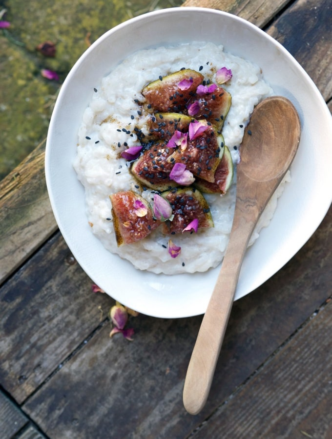 MARZIPAN RICE PUDDING WITH SWEET VANILLA FIGS
