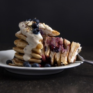 Vegane Blaubeer-Pancakes