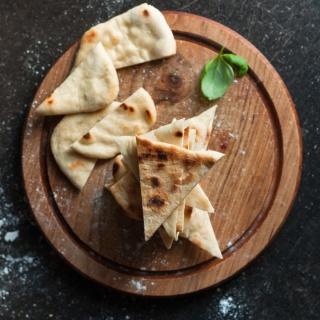 Indisches Naan Brot (ohne Hefe)