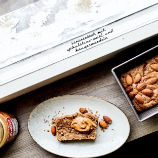 Vegan Banana Bread With Speculoos Swirl And Almonds