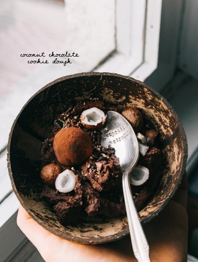 Coconut Chocolate Cookie Dough – schokoladiger Keksteig aus Kidneybohnen