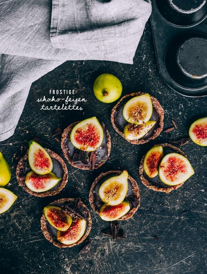 Frostige Schoko-Feigen-Tartelettes – veganes Eiskonfekt ganz einfach selbst gemacht