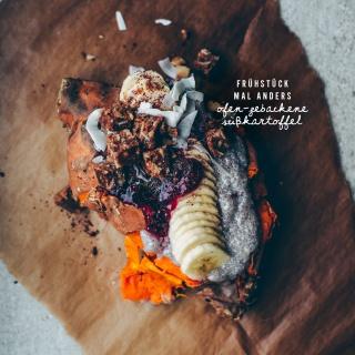 Frühstück mal anders: Ofen-gebackene Süßkartoffel