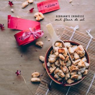 Gebrannte Erdnüsse mit Fleur de Sel