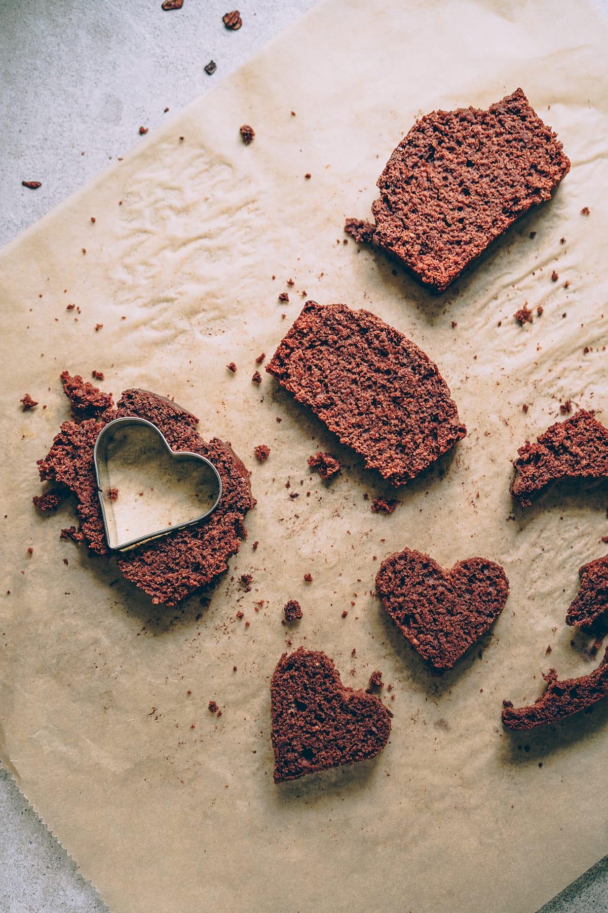Lieblicher Herzkuchen Mit Schokoladigem Kern Kichererb Se