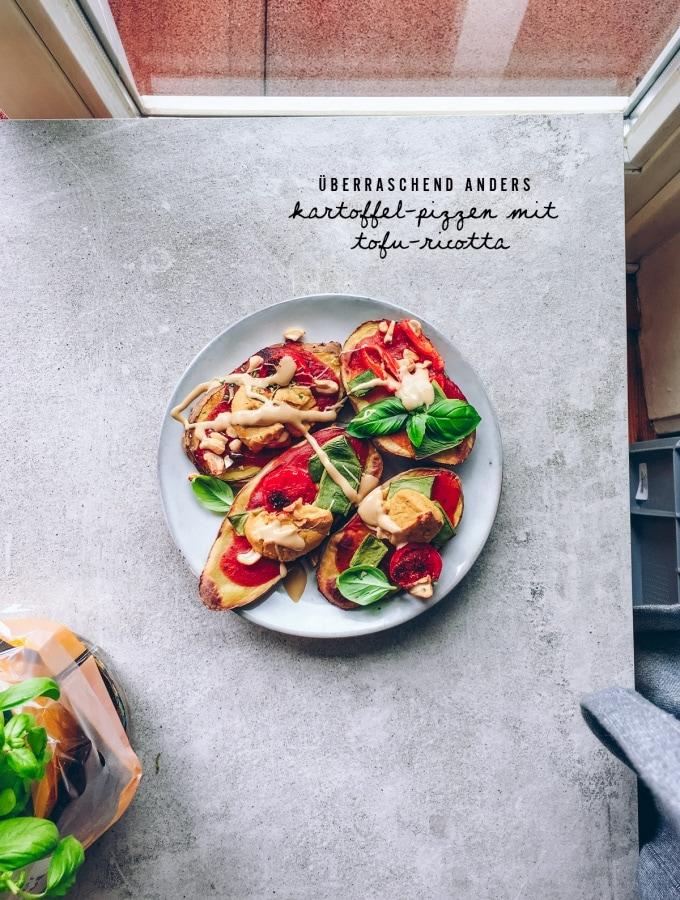 Überraschend anders: Kartoffel-Pizzen mit Tofu-Ricotta