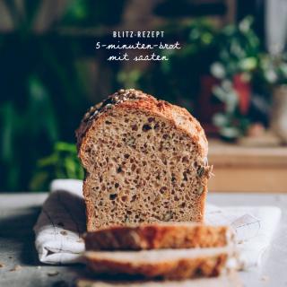 5-Minuten-Brot mit Saaten (Blitz-Rezept)